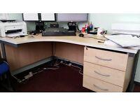 Large Pine Office Corner Desk