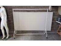Clothes rail 1,80m 6ft long all white designer, Retail, Shop fitting, wardrobe