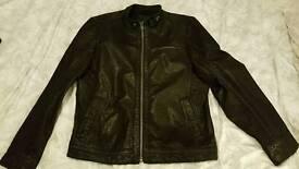 black biker style leather jacket river island