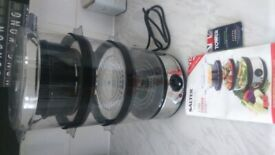 Salter 3tier steamer , new unused 10 pounds ,rrp 33 pounds