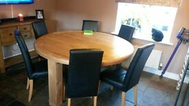 Danube solid oak table
