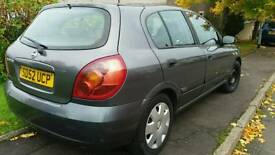 2002 Nissan Almera 4 BRAND NEW TYRES that cost £180