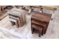Brand New Nest of Three Tables- Mango or Sheesham Wood!