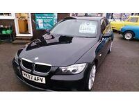 2007 BMW 318 I ES 4 DOOR SALOON IN BLACK AUG 2017 MOT 111K WITH F/S/H ALLOYS CD E/W E/M 6 SPEED BOX