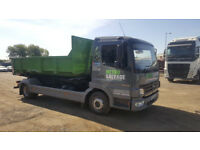 Mercedes Roll On Roll Off Skip Truck With 9 Skips Business Included Ready To Drive Away
