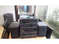 Sony Stereo System (1980s) with full remote, record player and 5 cd carousel