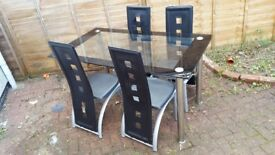 Large glass table good condition £50
