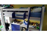 Scallywag Starter Bed with High Sleeper Conversion Kit and Shelf