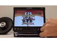 Ripspeed DV720 touchscreen flipscreen in-car dvd player/mp3/cd/stereo high power double display