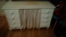 Solid wood painted dressing table. Ideal upcycle project.