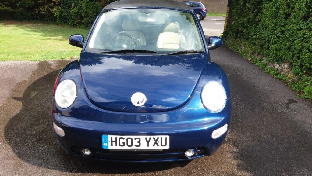 Volkswagen Beetle Cabriolet Convertible 2 0i 2003 Metallic Midnight blue,  Leather | in Henbury, Bristol | Gumtree
