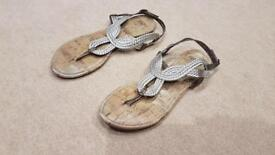 Size 5 (38) F&F Gold woven style flat sandals