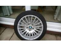 "Bmw 17 "" alloys and tyres"