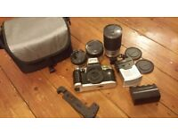 OLYMPIA VINTAGE CAMERA WITH LENSES FLASH CARRY BAG
