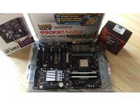 FX8370 8-core, Gigabyte GA-990FXA-UD3, Corsair Vengance Pro 16Gb RAM & Cooler Master Hyper 212 Evo.