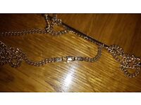 Solid 9c gold neck chain 18 g weight, 3mm width, would suit man or woman