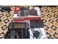 Nintendo Switch Console Grey with carry case and screen protector(Barely Used) - Like Brand New