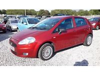 Fiat GRANDE PUNTO 1242cc Petrol, Hatchback, Manual , Red, 2008(08) MotExpires: 01 November 2016.
