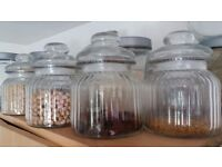 12 Glass containers with cap