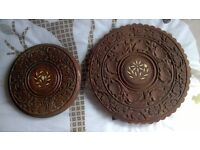 Set of 2 ornamental occasional tables,