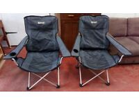 2 x Deluxe Camping Chairs