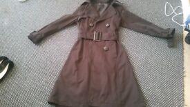 Zara black mac coat size small