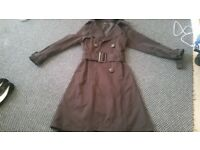 Zara black mac coat size small