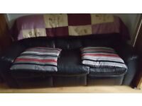 Leather 3 and 2 seater sofa