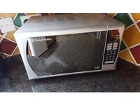 Russell Hobbs glass fronted Microwave in good condition.