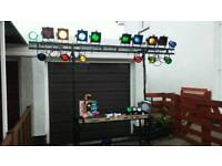 Disco Lighting Stand including all Lighting, Controller, Cables etc