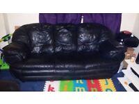 3 & 1 Seater Leather Sofa 4 Quick Sale