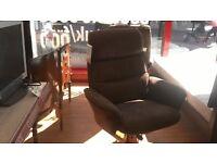 Suede effect armchair