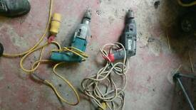 Power drills 110v all work