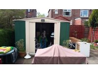 Garden shed (metal shed with a wooden base) 10ft x 8ft. Must collect