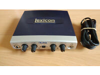 Lexicon Portable Audio USB Interface for PC Mac Laptop and Desktop Computer Audio Recorder