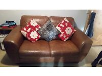 3 2 and 1 sofa brown good condition