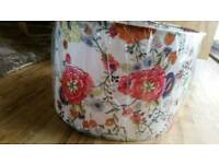 Floral Pendant Drum Light Shade