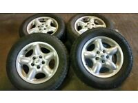 "landrover freelander 16"" alloys wheels and good tyres"