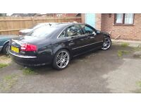 Audi a8 quattro sport 2007 black 20inch wheels 12 months mot dab tv electric sports leather