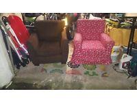 2 Single Chairs