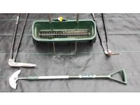 Lawn Maintenance tools,Spreader, half moon edger. Long handled edging and grass shears