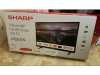 Sharp 40 Inch Full HD LED Smart TV + Freeview Play (LC-40CFG3021KF) -Brand New with warranty
