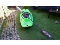 Pyranha 190 S-6 kayak and carbon fibre paddle