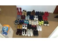 Large bundle of boys shoes and trainers