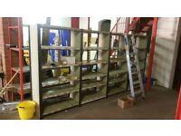 Metal shelving units various sizes