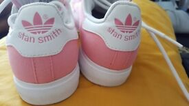 Pink Adidas Stan Smith size 4 used