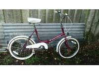 Lady's three speed fold up bike