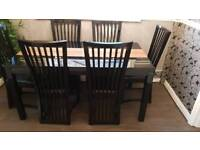 Casabella dining table with 6 chairs
