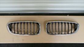 GENUINE BMW 4 SERIES F32 F33 F36 KIDNEY GRILLS (PAIR) - 51137294818 51137294817