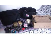 JOB LOT AVON COSMETIC,BAGS AND GIVE AWAY FREE ITEMS